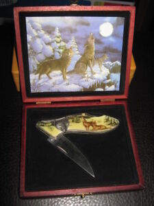 Olympia Folding Knife with Case