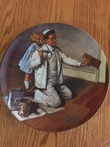 """Norman Rockwell's """"The Painter"""" collector plate"""