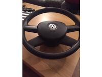 VW GOLF STEERING WHEEL WITH AIR BAG