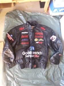 NOT DUPLICATE ads NASCAR COATS JACKETS NEW LEATHER & TWILL