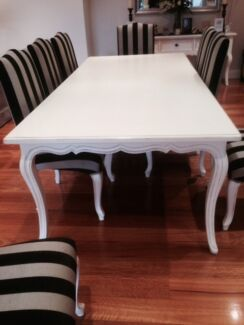 White Dining Table (with 8 chairs) Castle Hill The Hills District Preview