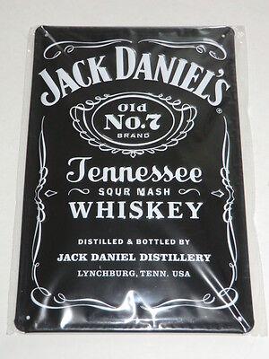 Jack Daniel's Old No 7 Brand Tennessee Whiskey Blechschild Neu OVP