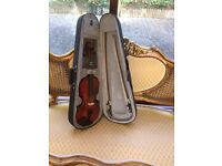 3/4 VIOLIN WITH BOW, CASE, SHOULDFER REST
