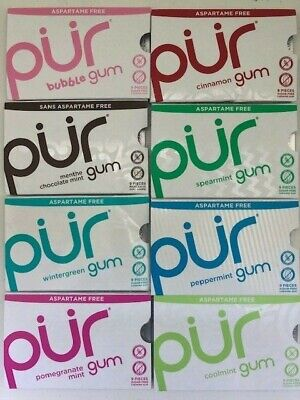 PUR Gum - Any Flavor! 20 packs for 10 bucks!!!  Best deal per/piece anywhere!   (Best Deals)