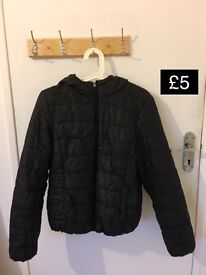 Black Down Jacket, Size M (Shadwell, London)