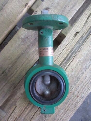"""DEMCO 2"""" IRON BUTTERFLY VALVE J022119-1228341 (WITHOUT HANDLE) #17230J NEW"""