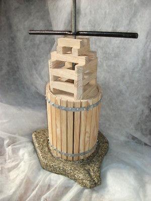PRENSA de vino. Artesanal. Tamaño 1. Madera y Granito. 65 cms.