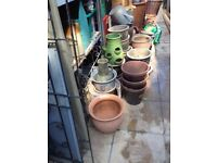 Ceramic / metal plant pots / buckets watering cans for the garden £5 each