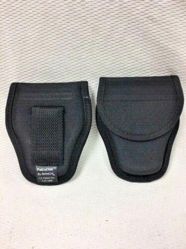 Bianchi 31300 Black Patroltek Covered Handcuff Cuff Belt Case Snap Closure Used