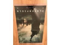 Large Hanging Cloverfield movie poster in plastic covering- 111 cm (43.5 inches) x 68 cm (27 inches)