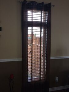 6 brown sheer panels