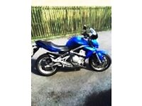 Kawasaki ER 6N low mileage , change of job and age forces sale