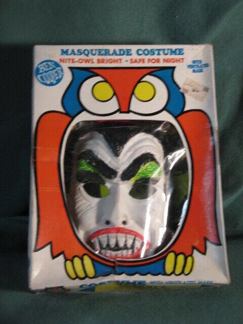 Dracula Ben Cooper #125 Small Masquerade Halloween Costume Mask BOX COMPLETE