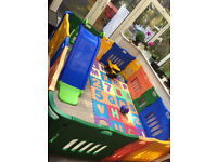 Jolly Kidz playpen + extension for garden or indoor child security