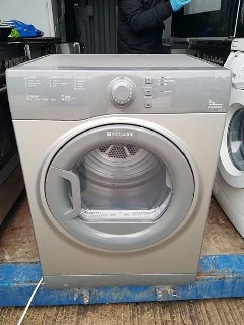 8kg Silver Hotpoint Vented Tumble Dryer - Excellent Condition / Free Local Delivery