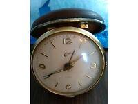 vintage Coral clam shell alarm clock