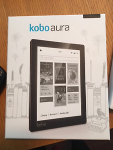 Barely Used Kobo Aura Reader with Sleek Case Excellent Condition