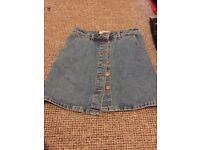 New Look A-Line Denim Skirt