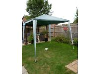 Gazebo 2.7 x 2.7 metres. Not new but only used once.
