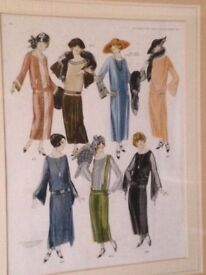 Framed 1920s fashion picture