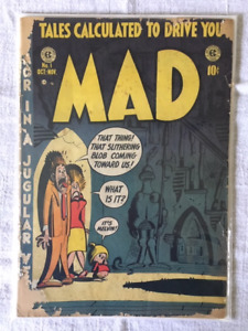 """MAD"" 1952 Golden Age comic book collection for sale - $5000."