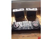 Pair Pioneer CDJ 1000 MK3 and DJM 700 mixer with original boxes and 2 flight cases