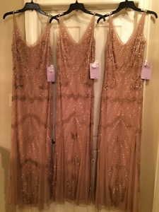 SEQUENCE GOWNS - 3 LEFT IN ROSE GOLD COLOUR