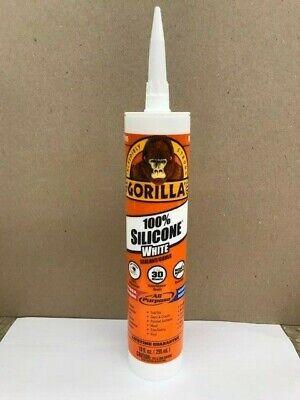 Silicone White Sealant Caulk All Purpose Waterproof 10oz Tube Gorilla 80600