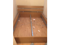 IKEA wooden double bed frame HOPEN