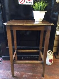 Vintage *HALLWAY TABLE* Wooden Plant Stand Beautiful Shape For Restoration?