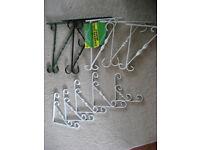 Hanging basket brackets