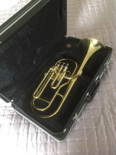 Jupiter JAL-456L Eb Tenor Horn: with rugged case.  Dennis Wick 3 mouthpiece
