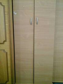 Maple wardrobe with silver handles