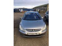 Peugeot 307 5 door 1997cc low miles great car