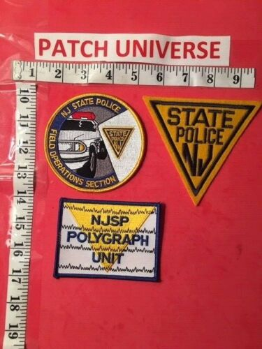 LOT OF THREE DIFFERENT NEW JERSEY  STATE POLICE  SHOULDER PATCHES  K057