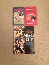 Sports books x 3 Football World Cup & sporting records