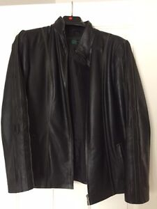 LEATHER JACKET WORN ONCE