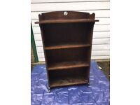 1920s solid oak bookcase custom built for a family around 1920, five foot high, very useful