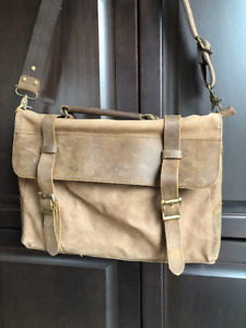 MESSENGER BAG - CANVASS & LEATHER