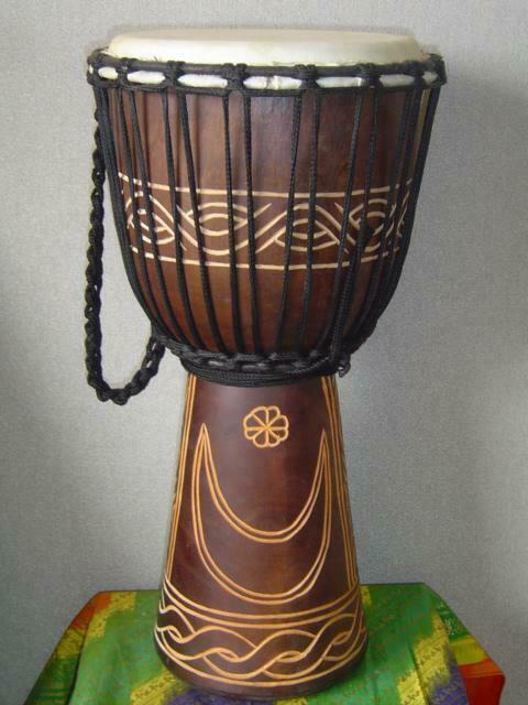 "SALE ~  20"" Djembe Bongo Hand Drum Moon & Star M15 + BONUS"