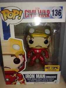Iron Man Unmasked Hot Topic Exclusive Funko Pop Vinyl Figure