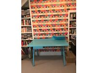 Desk retro style in blue