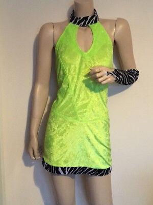 SEXY Womens PIMP DISCO 1970's 1980's Fancy Dress 5 piece Outfit ()