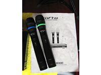 Twin Wireless Microphone set --Made in USA