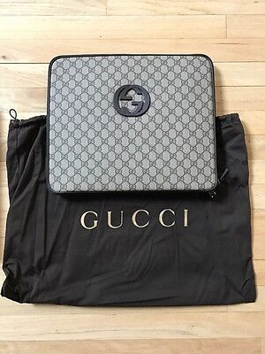 Gucci Interlocking G Computer GG Supreme Laptop Protective Case Sleeve - NEW