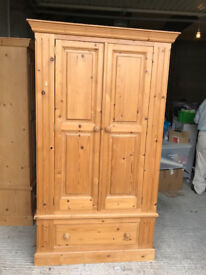 Solid Pine Wardrobes in excellent condition