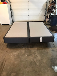 Bed Frame & Box Spring Mattress Set