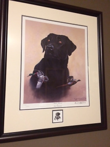 """DucksUnlimited framedprint """"Majestic Memories""""by Fred Rothenbush"""