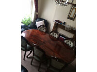 Vintage Dining Table with 8 Chairs Very Good Condition