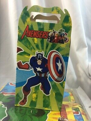 10pcs Avengers Theme Candy Box Kids Birthday Party Supplies Favors Gifts - Avengers Themed Party